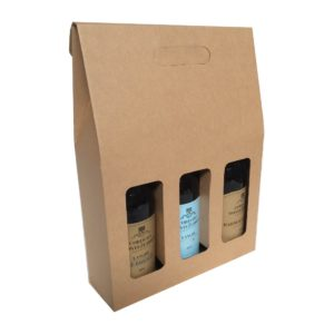 WINE THREE BOTTLE CARRIER BOX