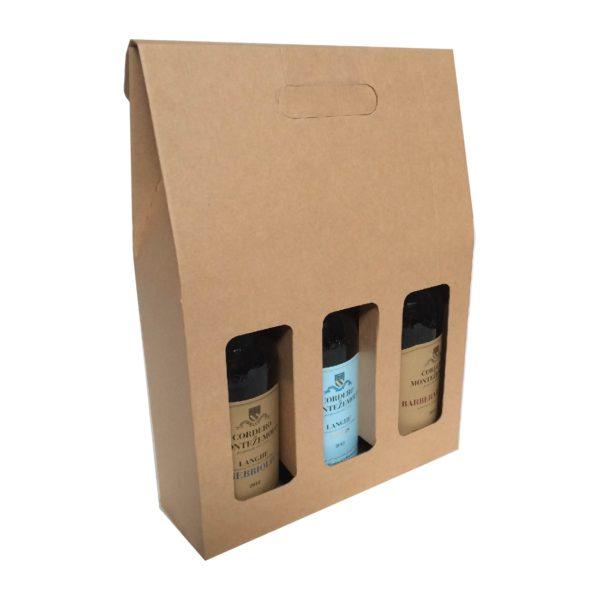 WINE THREE BOTTLE CARRIER BOX