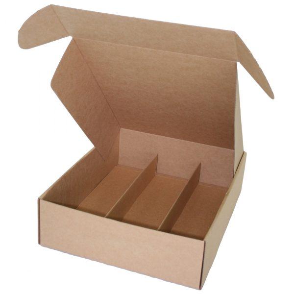 Wine 3 Bottle Laydown Box